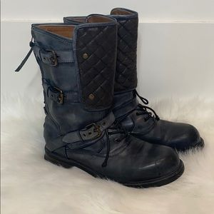 UGG Leather Moto Combat Boot. Size 10.